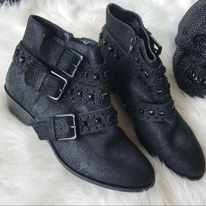 Sole Society Studded Black Ankle Booties